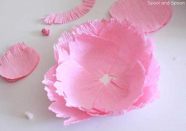 Цветы пионы из гофрированной бумаги большие 144