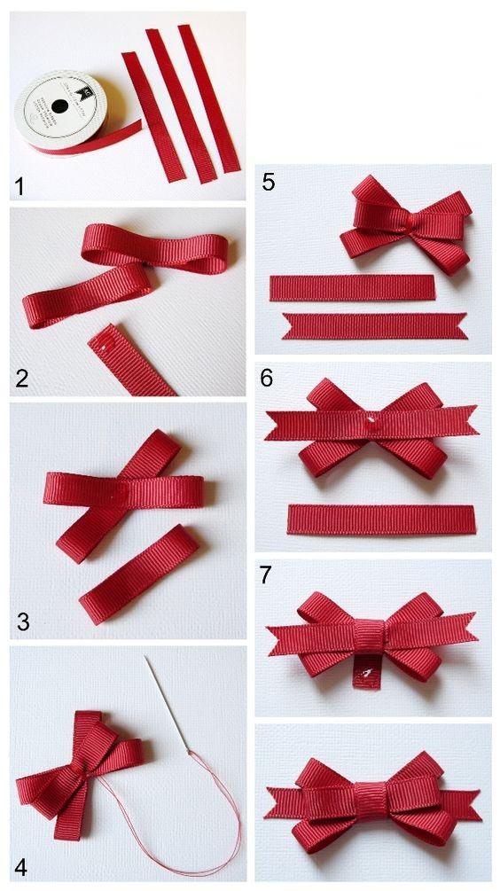 Как сделать красивый бантик из ленты для волос 477
