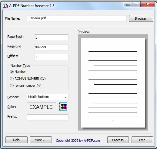 как сделать нумерацию в документе pdf