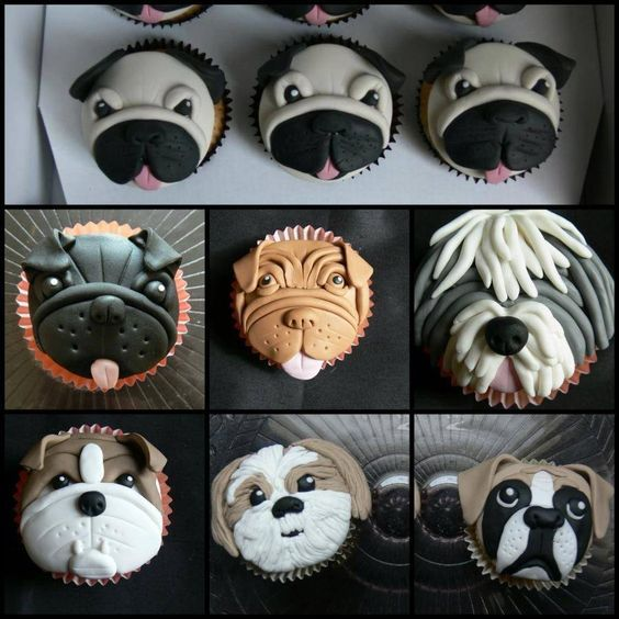 капкейк собака из мастики