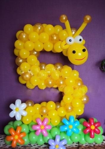 Как сделать номер 5 & Quot; пять & Quot; из воздушных шаров? - dtk28
