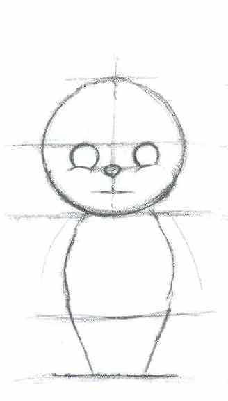 Как нарисовать глупого мышонка