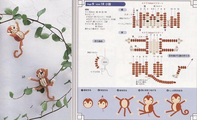 Как сделать обезьяну из бисера?