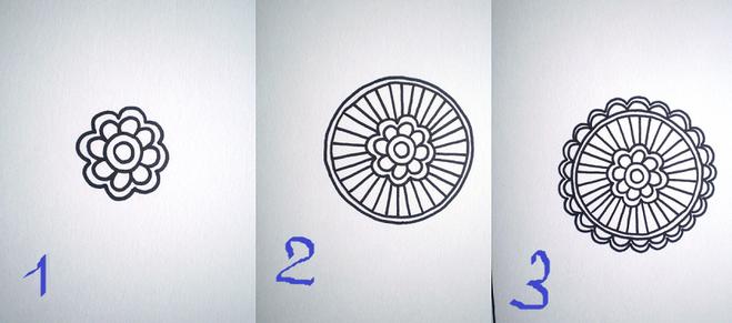 как нарисовать дудлинг поэтапно фото
