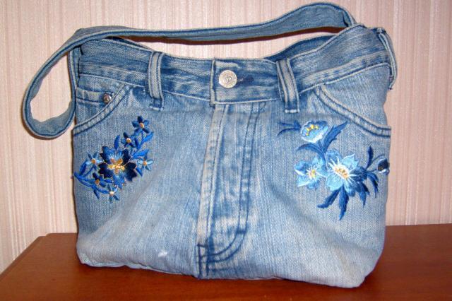 Сшить сумку своими руками из старых джинс