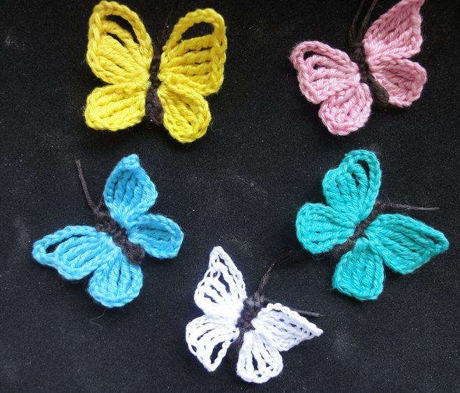 Видео вязание бабочки