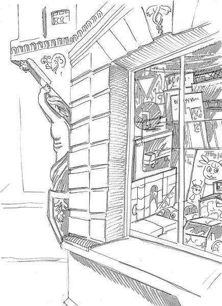 Раскраски витрина магазина