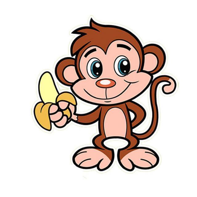 Рисунки обезьян ребенку