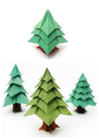 оригами поделка Новый год