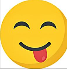смайлик язык сбоку улыбка довольный
