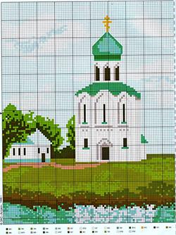 Церковь Покрова на Нерли схема вышивки крестиком