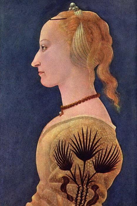 портрет дамы в жёлтом