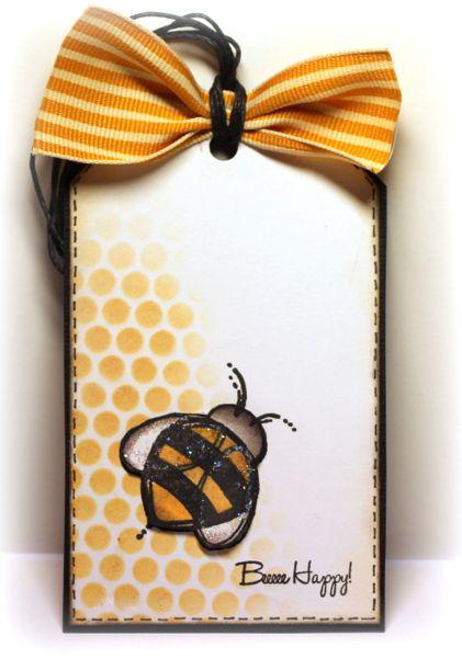 открытка с пчелой скрапбукинг