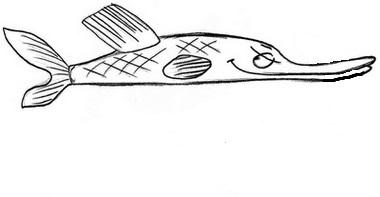 как нарисовать щуку 2