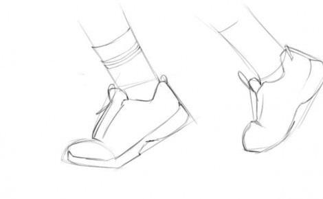нарисовать кроссовки 2