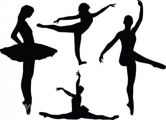 Трафареты балерин без