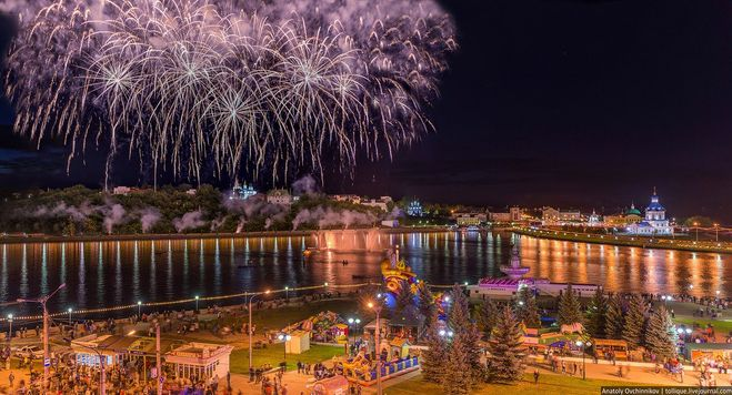 Салют Чебоксары День города
