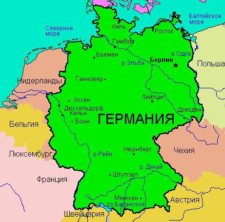 Карта Германии Скачать - фото 9