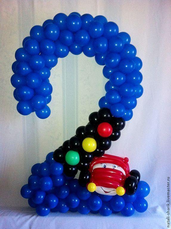 Цифра 2 из шаров своими руками видео