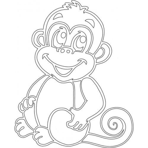 Трафареты на окна к новому году обезьяны