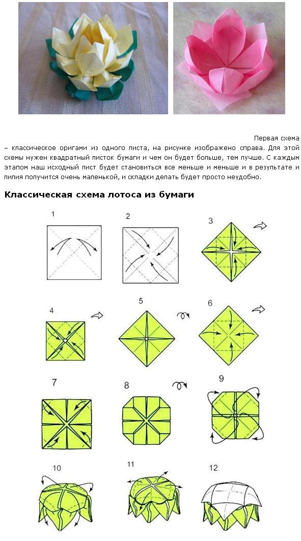 из модулей оригами можно