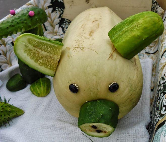Поделки из овощей своими руками из кабачков 42