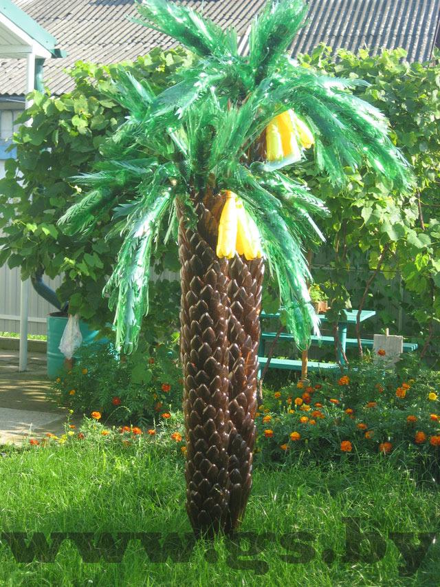 Как сделать пальму из бутылок пластмассовых
