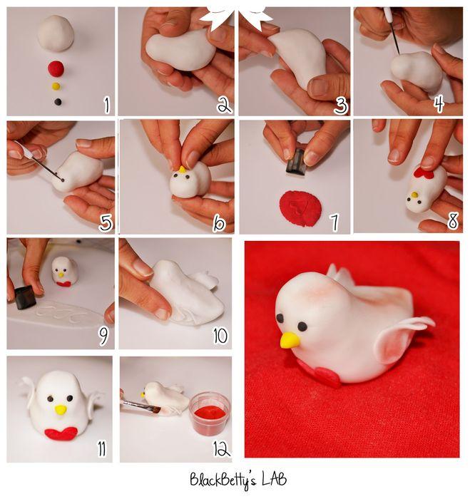 Как сделать петуха из мастики пошагово