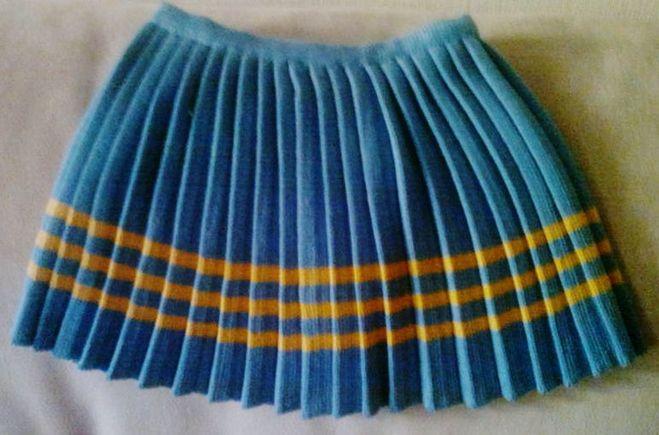 Связать юбку плиссировку