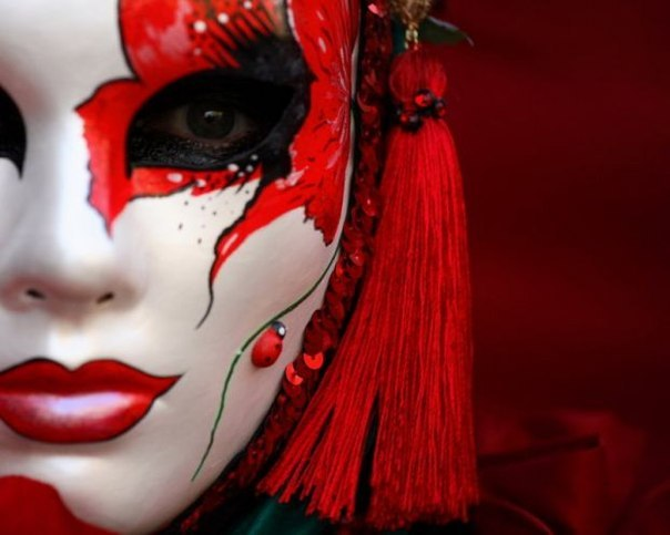 Венецианская маска раскраска
