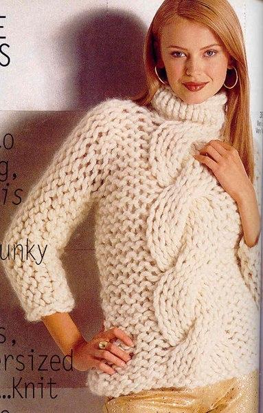 Джемперы вязание из толстой пряжи