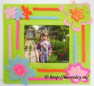 Рамка для фото своими руками для детей фото