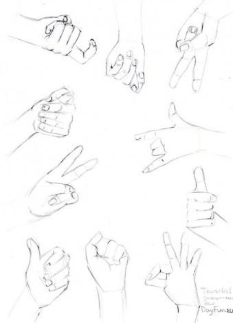 У вас получится рисовать руки