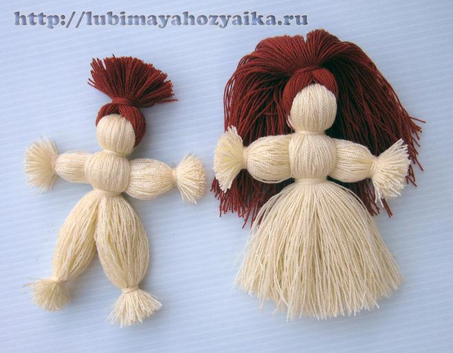 Как сделать куклу из ниток своими руками в домашних условиях