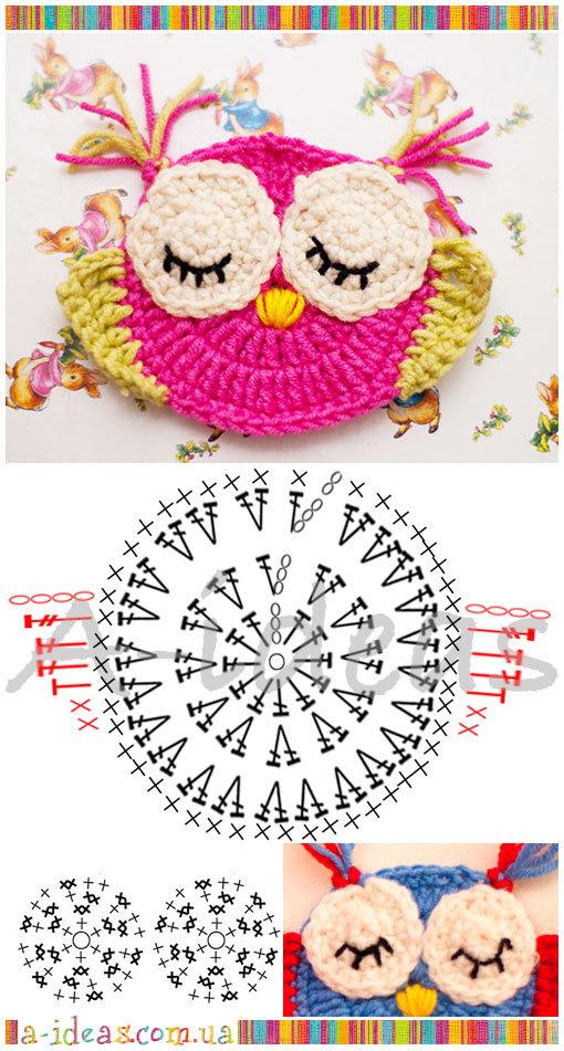 как связать плоские игрушки на елку схемы вязания и фото