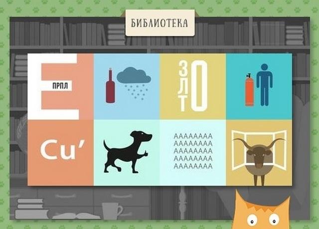 Ответы к игре Кот Ребус - Библиотека в Одноклассниках - Ответы на игры