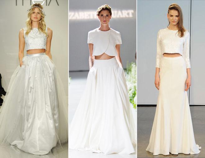 Отрезное свадебное платье