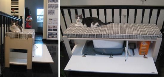 Туалет-домик для кошек своими руками фото 8