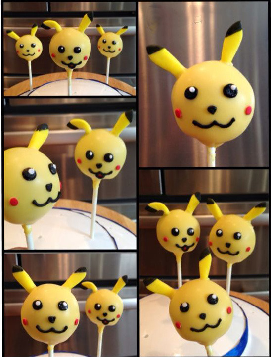 кейк-попсы в стиле покемнов