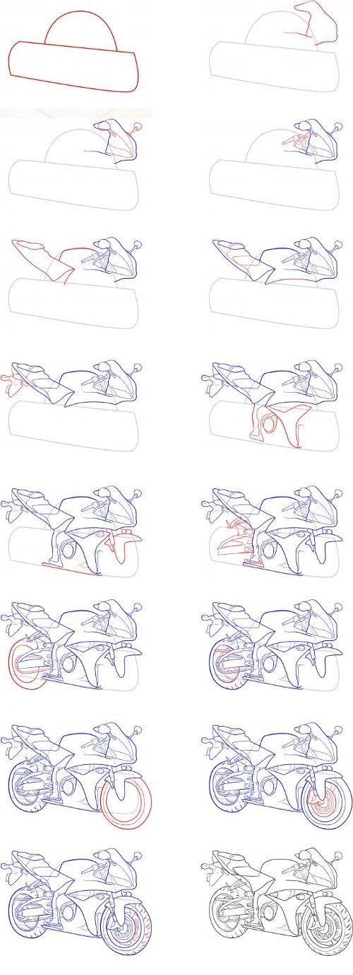 Как нарисовать мота карандашом поэтапно