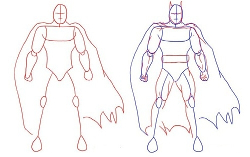 как рисовать Бэтмена 1