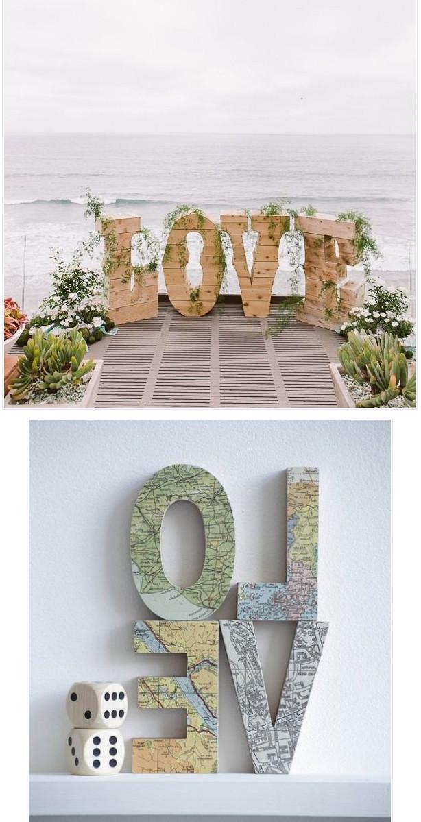 Слово love из пенопласта своими руками 15