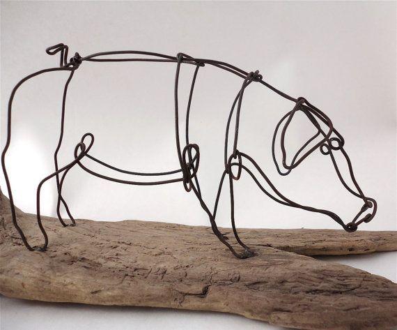 как сделать свинью, кабана из проволоки своими руками