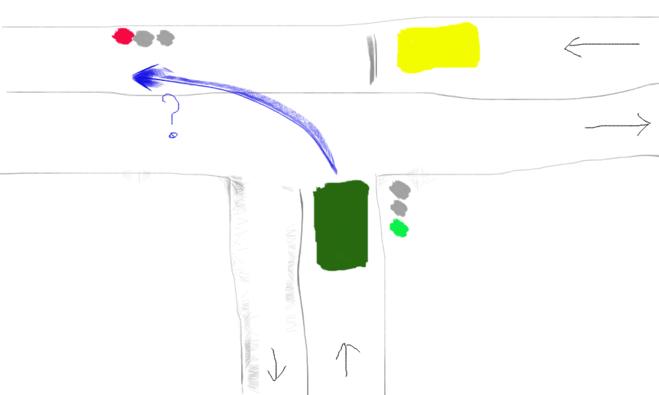 Регулируемый T-образный перекрёсток