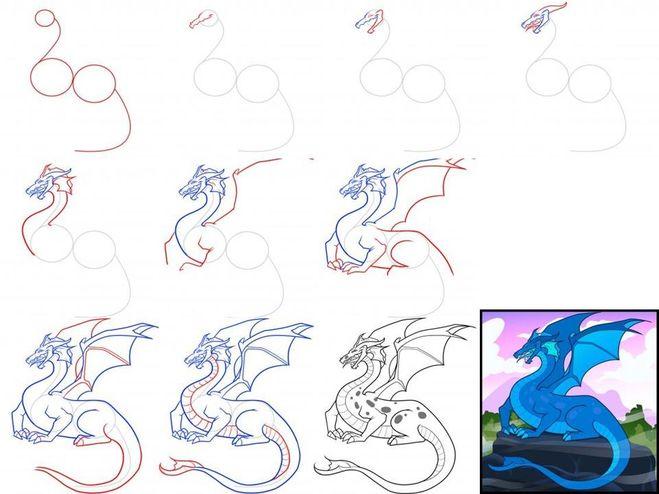Как сделать дракона легко