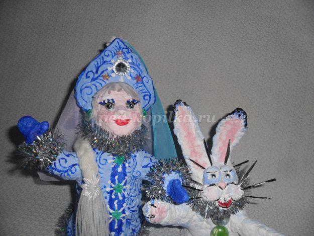 Снегурочка своими руками мастер класс из папье маше 23