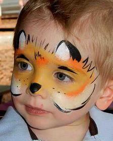 Как нарисовать мордочку волка аквагримом на лице ребенка
