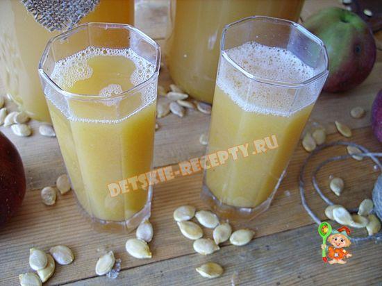 Как приготовить яблочно - тыквенный сок?
