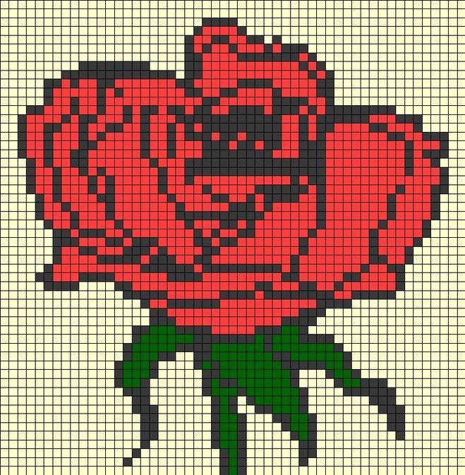 Фото розы нарисованной