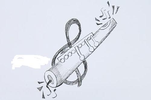 Нарисовать кларнет карандашом поэтапно